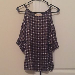 Michael Kors cold shoulder shirt